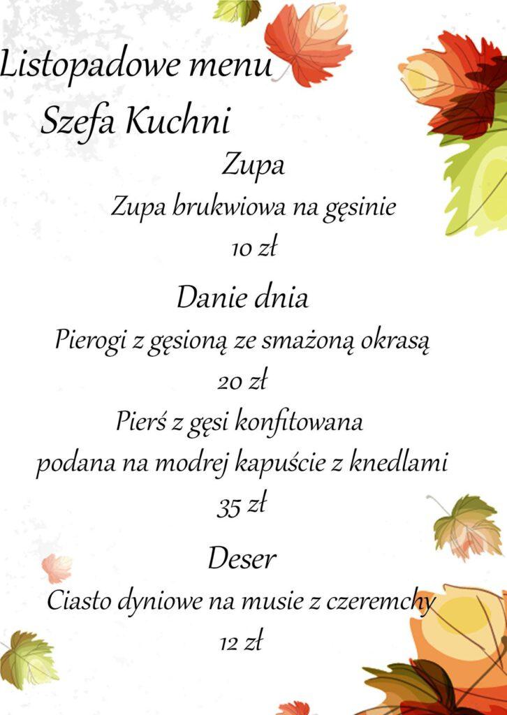 listopadowe menu